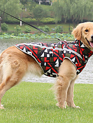 cheap -Dog Dog Costume Geometic Euramerican Dailywear Casual / Daily Winter Dog Clothes Puppy Clothes Dog Outfits Reflective Red Blue Costume for Girl and Boy Dog Polyester S M L XL 3XL 4XL