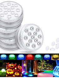 cheap -Submersible LED Light Outdoor Lights Waterproof 1X 2X 3X 4X 8X 10X SMD5050 Upgrade 13 LED IP68 RGB Submersible Light With Magnet and Suction Cup For Swimming Pool Pond Light Underwater Tea Colorful Light Colorful Lighting With Remote Controller
