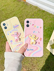 cheap -Phone Case For Apple Back Cover iPhone 12 Pro Max 11 SE 2020 X XR XS Max 8 7 Shockproof Dustproof Graphic 3D Cartoon Animal TPU