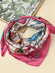 cheap -Women's Square Scarf Party Rose Scarf Floral