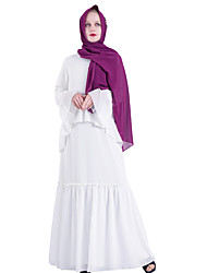 cheap -Arabian Adults Women's Cosplay Abaya Dress Arabian Dress For Party Halloween Chemical Fiber Solid Color Halloween Carnival Masquerade Dress