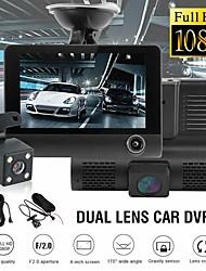 "cheap -4"" Three Way Car DVR FHD Three Lens Video Recorder Camera 170 Wide Angle Dash Cam G-Sensor and Night Vision Camcorder"