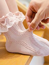 cheap -New Products Spring And Autumn Girls Lace Socks Dance Socks Children Socks Lace Princess Socks Girl