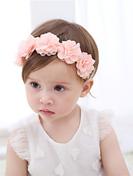 cheap -1pcs Baby Girls' Sweet Casual / Daily Wear Floral / Solid Colored Floral Style Nylon Hair Accessories Blushing Pink / White Kid onesize / Headbands