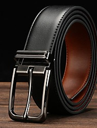 cheap -Men's Wide Belt Leather Belt Solid Colored