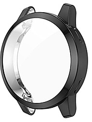 cheap -awaduo for garmin venu 2s tpu protective case cover, smartwatch protective case cover shell for garmin venu 2s/ vivoactive 4s, soft and durable(tpu black)
