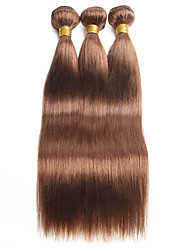 cheap -Ishow 3 Bundles Human Hair Weaves 8A Quality Color Straight Bar 30# Hair Curtain 100% Real Peruvian Wig 3 Pieces Combination Set 10-24 Inch