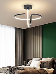 cheap -LED Ceiling Light Black White Gold 42 cm Circle Design Flush Mount Lights Aluminum Artistic Style Modern Style Stylish Painted Finishes 220-240V 110-120V