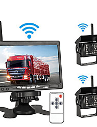 cheap -7-inch desktop high-definition car monitor truck reversing image display two-way input for priority 24v