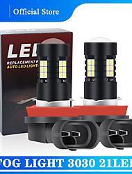 cheap -2PCS H8 H11 Led H4 bulb H7 HB3 9005 Bulbs 9006 Fog Light Bulbs 3030 21SMD Daytime Running Lamp Headlights Light Bulbs 12V
