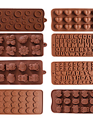 cheap -4pcs Chocolate Mold 3D Shapes Mold Fun Baking Tools For Jelly Candy Numbers Fruit Cake Kitchen Gadgets DIY Homemade