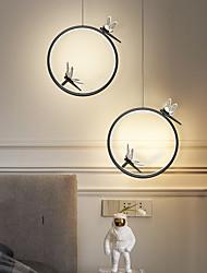 cheap -LED Pendant Light Island Light Bedside Light Modern Nordic Circle Dragonfly Design Black Gold 33 cm Single Design Metal 220-240V