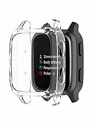 cheap -watch case cover for venu sq protective bumper cover built-in tempered glass screen protector, protective hard case shell compatible with venu sq