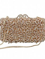 cheap -Women's Bags Alloy Clutch Crystals Chain Hollow Crystal / Rhinestone Rhinestone Party Wedding Evening Bag Wedding Bags Handbags Gold Silver