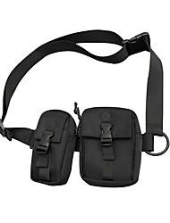 cheap -Unisex Bags Oxford Cloth Fanny Pack Daily Bum Bag Black