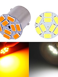 cheap -10pcs Smd bulbs for car 12V BAU15S 1156 BA15S p21w py21w 5630 9 Smd side indicator turn signal amber lights