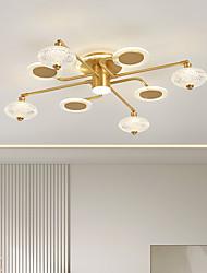 cheap -LED Ceiling Light Modern Gold 84cm 92 cm Sputnik Design Semi-Flushmount Lights Copper Modern Style Geometrical Brass 220-240V 110-120V