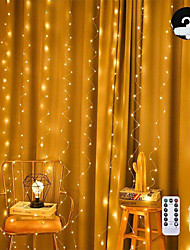 cheap -LED String Light 3x3M 300 LEDs Copper Wire Curtain Lights USB with Remote Control Christmas Holiday Wedding Decorative 5 V
