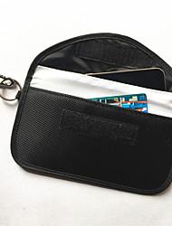 cheap -new 6.5 inch oxford anti-radiation signal shielding bag anti-gps carabiner car shielding key case rfid