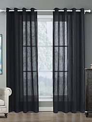 cheap -Classic Semi-Sheer Two Panels Curtain Living Room   Curtains