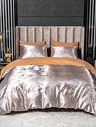 cheap -Print Home Bedding Duvet Cover Sets Silk Like Satin For Kids Teens Adults Bedroom 1 Duvet Cover + 1/2 Pillowcase Shams