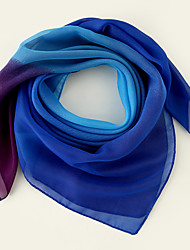 cheap -Women's Square Scarf Party Multi-color Scarf Color Block Chiffon Fall Spring