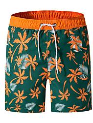 cheap -Men's Sporty Casual / Sporty Breathable Soft Shorts Swim Trucks Holiday Beach Pants Coconut Tree Short Drawstring Elastic Waist Blue Orange Black / Summer