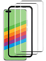 cheap -husher [2 pieces] tempered glass for huawei p40 pro, protective film [installation frame] [3d full cover] [anti-scratch] [hd clear] [9h hardness] [anti-oil] [bubble-free]