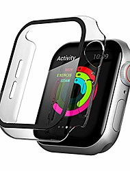 cheap -Smart watch Case compatible for apple watch series 6 /5 /4 /se 44mm with glass screen protector accessories ,all around hard pc case overall protective cover compatible with iwatch (44mm, clear)