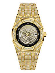 cheap -Missfox high-end full diamond waterproof quartz men's watch