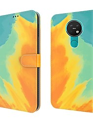 cheap -Gradient Color PU Leather Phone Case For Nokia 7.2 Nokia 5.3 Nokia 6.2 Wallet Card Holder Magnetic Flip Folio Full Body Protective Cover with Card Slots Kickstand