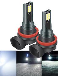 cheap -2pcs H11 LED H8 H9 H1 9005 9006 HB3 HB4 H7 H3 H4 Car Fog Lights with 3030 Chips 12LED White Car Fog Light Daylight 12V