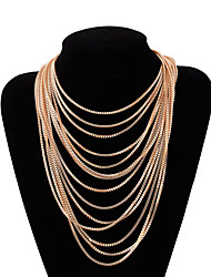 cheap -multi-layer necklaces retro exaggerated tassel necklace sweater accessories