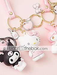 cheap -premium quality adorable cartoon keychain keyring purse handbag charms, hello kitty/my melody/kuromi/keroppi/badtz-maru (my melody)