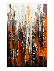cheap -Oil Painting Handmade Hand Painted Wall Art City Abstract Home Decoration Decor Stretched Frame Ready to Hang