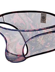 cheap -Men's Print Briefs Underwear Micro-elastic Low Waist Purple S