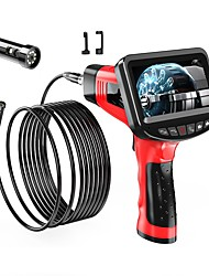 cheap -8.5 mm endoscope high definition camera auto repair engine industrial pipe hand-held 4.3-inch one-screen dual-lens electronic air conditioning channel hard wire 25m with 32G TF card
