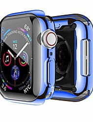 cheap -simyoung iwatch case 44mm series 4 screen protector for apple watch all around protective case high definition clear ultra-thin cover - blue