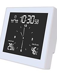 cheap -Multifunctional Bathroom Clock Timer Table LED Alarm Clock Desktop Home Decor Waterproof Thermometer Hygrometer Wall Clock
