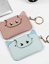 cheap -Creative anmial cartoon cute wallet fashion student coin purse key ring credit pocket card holder