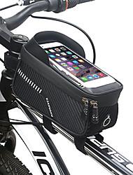cheap -1.2 L Bike Frame Bag Top Tube Touch Screen Reflective Waterproof Bike Bag EVA Bicycle Bag Cycle Bag Outdoor Exercise Multisport