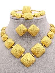 cheap -Women's Bridal Jewelry Sets Geometrical European Earrings Jewelry Gold For Wedding Engagement Festival 1 set