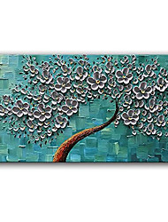 cheap -Oil Painting Handmade Hand Painted Wall Art Rectangle Simple Knife Flower Abstract Pictures Home Decoration Decor Stretched Frame Ready to Hang