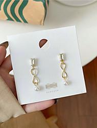 cheap -s925 silver needle pearl earrings female korean long square haoshi earrings personality wild temperament earrings a223