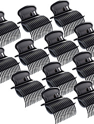 cheap -12 Pieces Hot Roller Clips Hair Curler Claw Clips Replacement Roller Clips for Women Girls Hair Section Styling (Black)