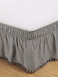 cheap -Elastic Polyester Bed Skirt Ruffles Easy Fit Spread Cover Valance Home Bedroom Decoration