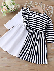 cheap -Toddler Little Girls' Dress Striped As Picture Dresses
