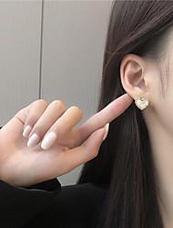 cheap -s925 silver needle korean temperament simple quicksand gold rim small peach heart earrings 2020 new earrings female k893