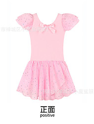 cheap -Kids Little Girls' Dress Solid Color Light Blue Blushing Pink Black Dresses