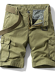 """cheap -Men's Hiking Shorts Hiking Cargo Shorts Military Solid Color Summer Outdoor 12"""" Comfort Ripstop Breathable Soft Cotton Knee Length Shorts Blue Khaki Green Black Work Hunting Fishing 28 29 30 31 32"""